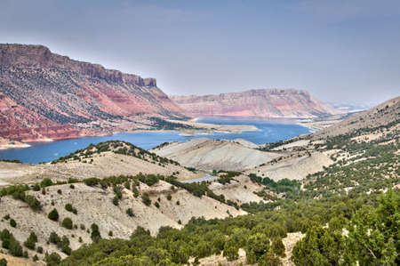 recreation area: Flaming Gorge National recreation area and the Green river, Utah, USA