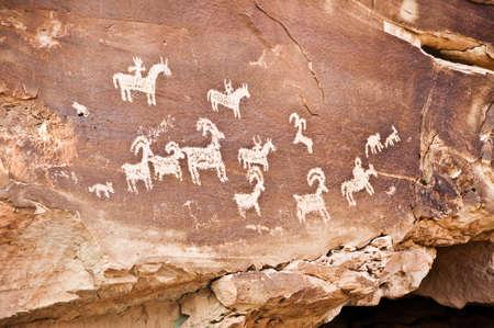Petroglyphs, Arches National park, Utah, USA