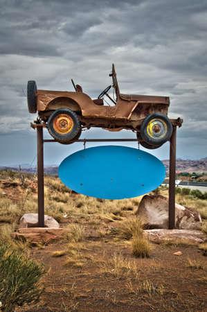old sign: Old car sign