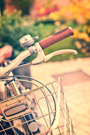 nostalgy: Vintage bicycle detail with bokeh background