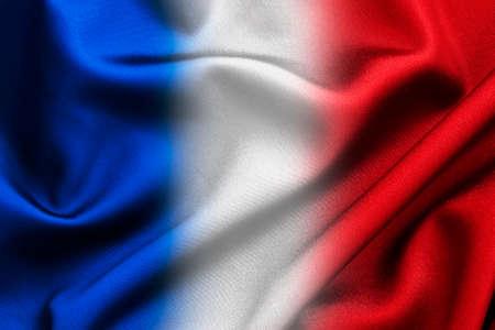 bandera blanca: Blanco y rojo azul sedoso fondo de la tela