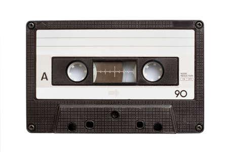 Audio cassette tape isolated on white background photo