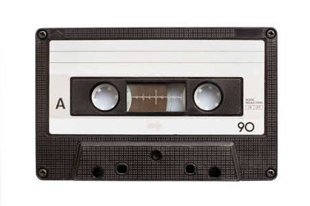 Audio cassette tape isolated on white background