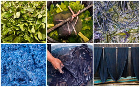 Handmade natural indigo dye step by step, Guangxi, China