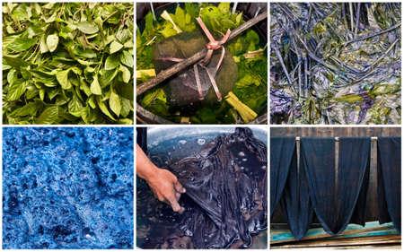 Handmade natural indigo dye step by step, Guangxi, China