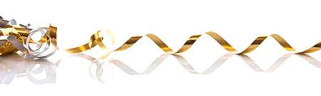 golde: Golden gift ribbon isolated on white background