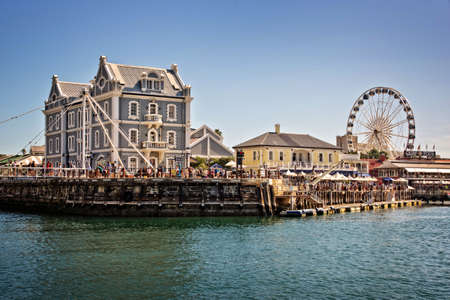 Cape Town Waterfront, a touristic place with shopping malls and restaurants Editorial
