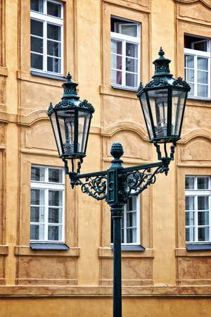 city light: City light in Prague, Czech republic