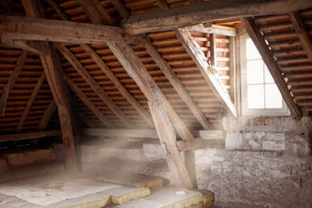 Old attic of an ancient house