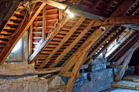 undeveloped: Old attic of an ancient house