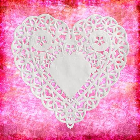 Heart paper on pink Stock Photo