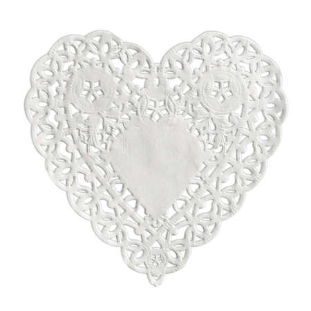 lacy: Heart paper isolated on white background Stock Photo