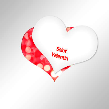 cut in paper: Heart Cut paper saint Valentin