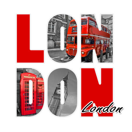 London letters  isolated on white background photo