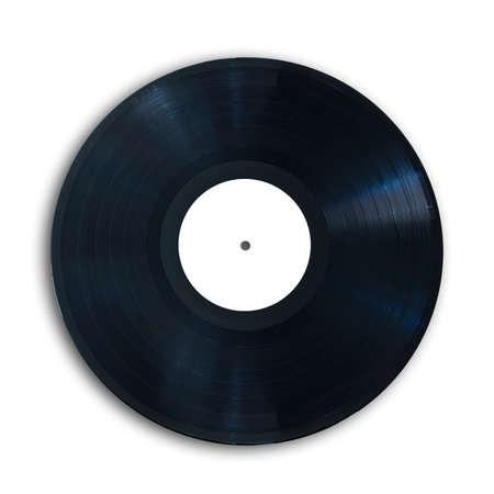 El disco de vinilo, aislado en fondo blanco Foto de archivo - 35711079