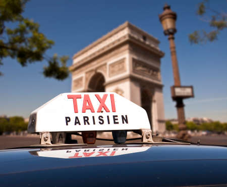 arc de triomphe: Parisian taxi, arc de triomphe, Paris