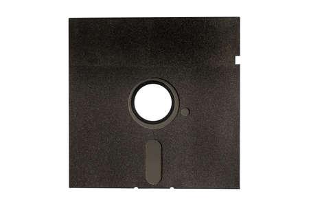close uo: Black floppy disk isolated on white background