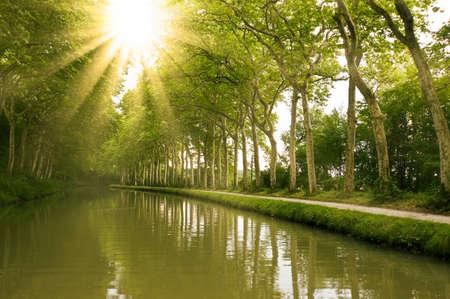 フランス南部、ミディ運河