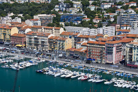 nice france: Harbour of Nice, France Stock Photo