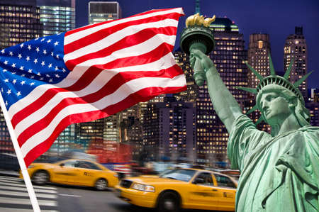 liberty: New York concept collage Stock Photo