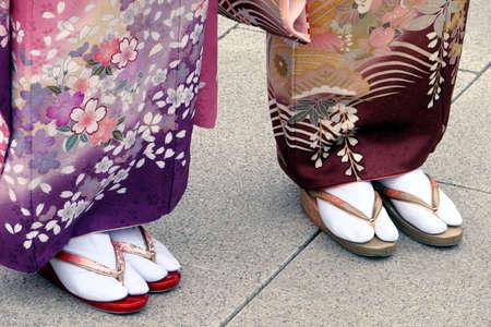 Getas sulle donne piedi giapponesi Archivio Fotografico - 36519300
