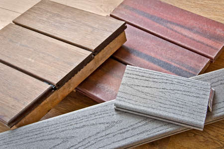 teck: Wood samples for a terrace