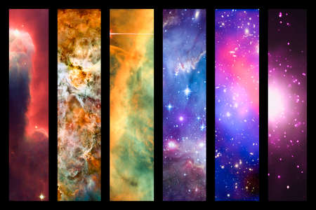 astral: Space nebula and galaxy rainbow collage - elements of this image are provided by NASA
