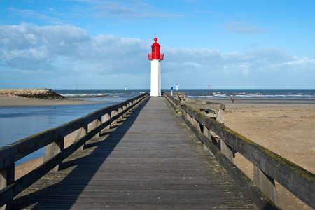 Trouville lighthouse, Normandy, France Stock Photo