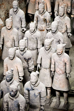 funerary: Terracotta soldiers, Xian, China Stock Photo