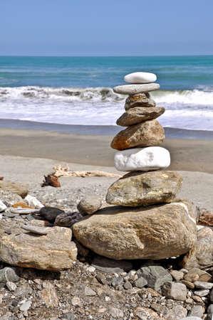 west  coast: Beach on the West Coast, South island, New Zealand Stock Photo