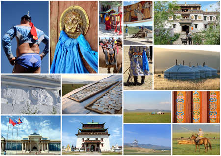 ger: Outer Mongolia photos collage