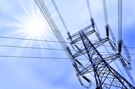 redes electricas: Electricy pilón
