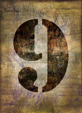 numero nueve: Número nueve, grunge fondo metálico oxidado Foto de archivo
