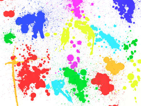 blobs: Colorful paint stains and blobs background