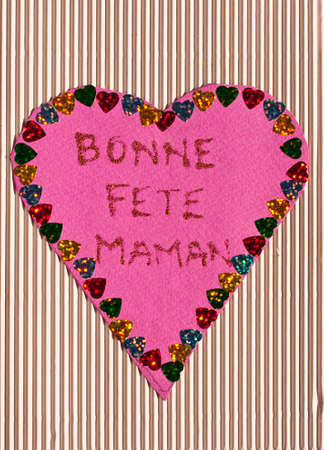 bonne: French happy mothers day card made by a child