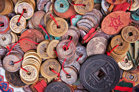 antique coins: Old chinese antique coins background