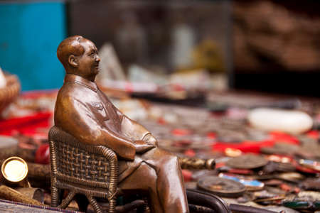 mao: Chairman Mao statue in an antique market in China Stock Photo