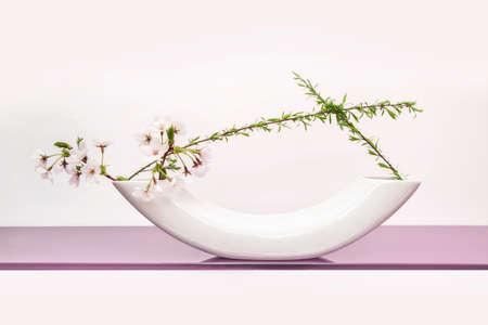 arbol de cerezo: Cereza primavera �rbol arreglo floral japon�s (ikebana)