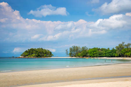 Tropical beach on Bintan island resorts, Indonesia