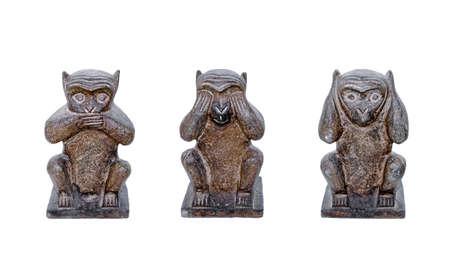 three story: Three wise monkeys see no evil, hear no evil, speak no evil, buddhism maxim