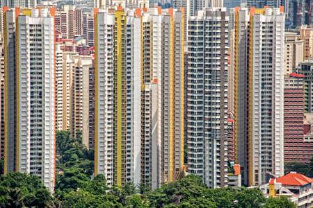 シンガポールの高層アパート ブロック