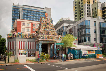 hinduist: Sri Veeramakaliamman Temple in Little India one of the oldest temple of Singapore Editorial