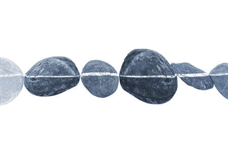 horizontal line: Horizontal line of stones, isolated on white background