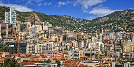 principality: Cityscape of the Monaco principality, french riviera Stock Photo