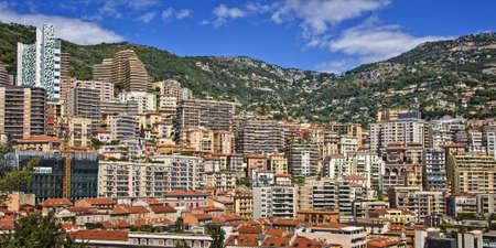 riviera: Cityscape of the Monaco principality, french riviera Stock Photo