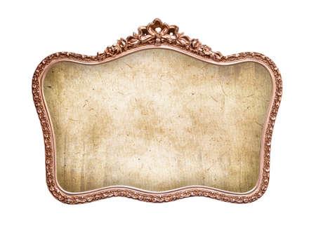 ovalo: Oval marco barroco antiguo, aislado en fondo blanco