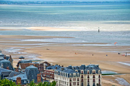 europe travel: The beach of Houlgate, Normandy, France