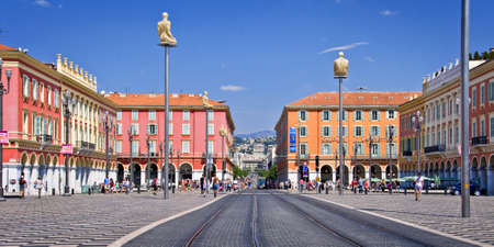 seaside: Place Massena in the city of Nice on the  French riviera