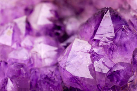 Amethyst stone close up Stock Photo
