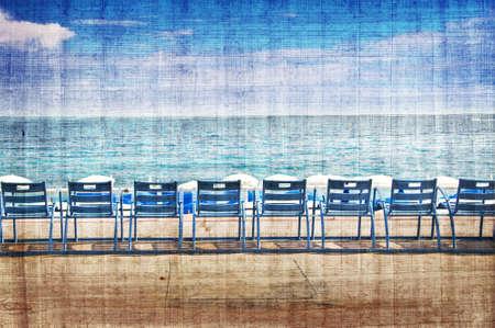 riviera: English promenade vintage, Nice, French Riviera, France Stock Photo